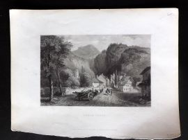 Bartlett Switzerland C1838 Antique Print. Cluse - Savoy
